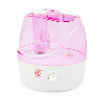 Pink Humidifier Anti-Slip Handle with Whisper-Quiet Operation 2.2L / 0.58G